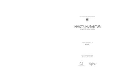 Catalogo IMMOTA MUTANTUR